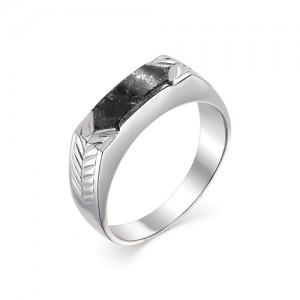 Мужской перстень из серебра 925 пробы с гранитом арт. 93-44-073