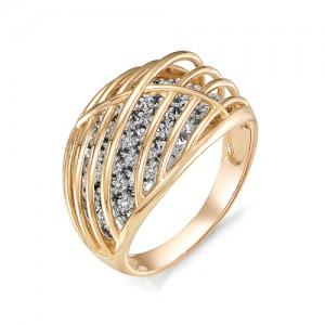 Кольцо из красного золота 585 пробы  арт. 11-02-351