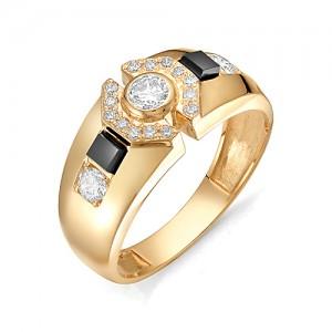Перстень из золота 585 пробы с фианитом арт. 91-02-121