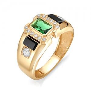 Перстень  из золота 585 пробы с фианитами арт. 91-02-123