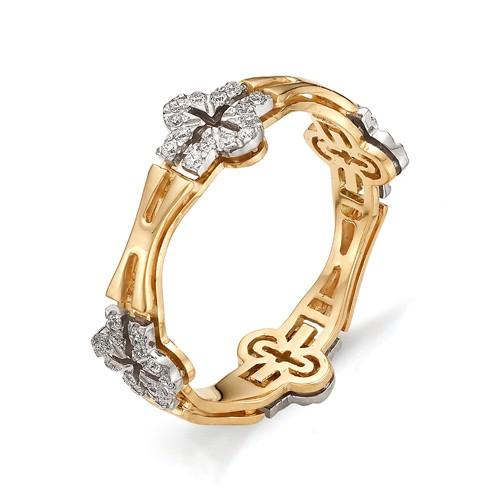 Кольцо из красного золота 585 пробы арт. 11-02-296