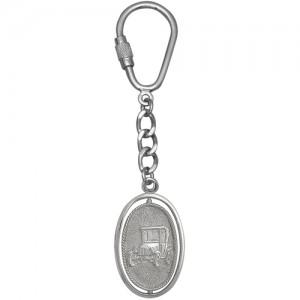 Брелок ОБЕРЕГ АВТОМОБИЛИСТА из серебра 925 пробы арт. 000-5-584