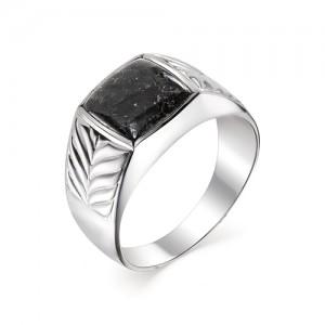 Мужской перстень из серебра 925 пробы с гранитом арт. 93-44-076