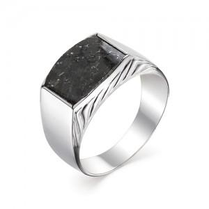 Мужской перстень из серебра 925 пробы с гранитом арт. 93-44-078