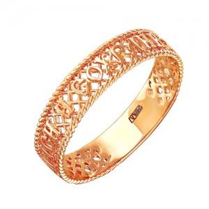 Кольцо из красного золота 585 пробы арт. 100-1-337