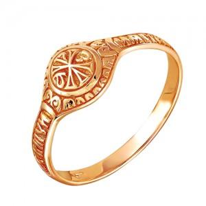 Кольцо из красного золота 585 пробы арт. 100-1-342