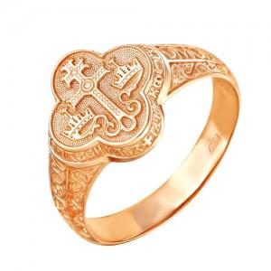 Кольцо из красного золота 585 пробы арт. 100-1-379