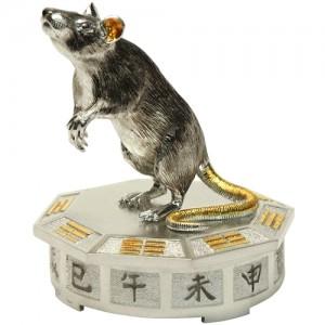 """Серебряная статуэтка -год """"Крысы"""" ,арт. 1007-05-00501"""