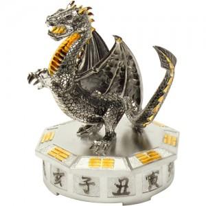"""Серебряная статуэтка -год """"Дракона"""", арт. 1007-05-00505"""