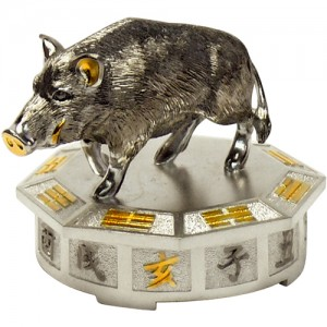 "Серебряная статуэтка -год ""Кабана"", арт. 1007-05-00510"
