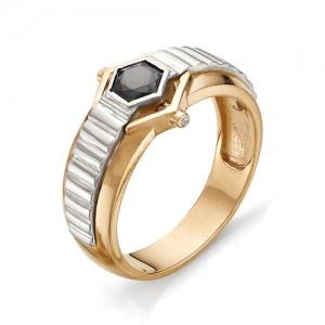 Перстень мужской из красного золота 585 пробы арт 91-008