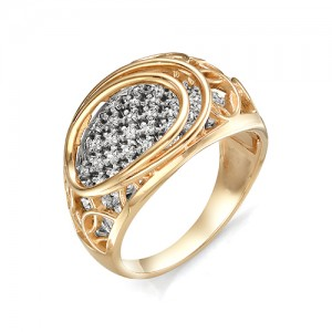 Кольцо из красного золота 585 пробы  арт. 11-02-355