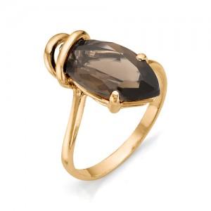 Кольцо из красного золота 585 пробы с полудрагоценными камнями арт. 11-14-203