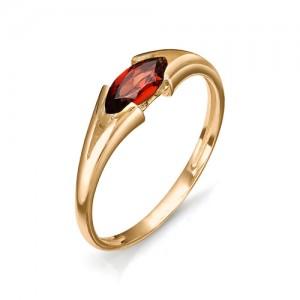Кольцо из красного золота 585 пробы с полудрагоценными камнями арт. 11-22-305