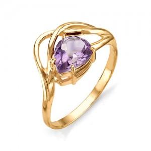 Кольцо из красного золота 585 пробы с полудрагоценными камнями арт. 11-13-160