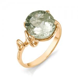 Кольцо из красного золота 585 пробы с полудрагоценными камнями арт. 11-17-201