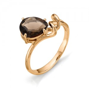 Кольцо из красного золота 585 пробы с полудрагоценными камнями арт. 11-14-181