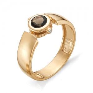 Перстень из красного золота 585 пробы арт. 91-007