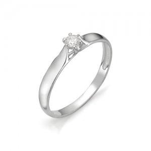 Кольцо из белого золота 585 пробы с бриллиантом арт. 12-03-310
