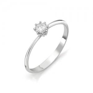 Кольцо из белого золота 585 пробы с бриллиантом арт. 12-03-311