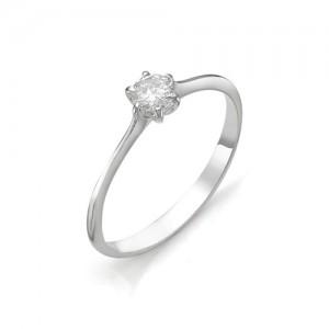 Кольцо из белого золота 585 пробы с бриллиантом арт. 12-03-317