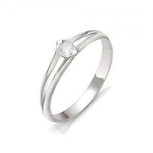 Кольцо из белого золота 585 пробы с бриллиантом арт. 12-03-320