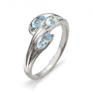Кольцо из серебра 925 пробы с полудрагоценными камнями арт. 13-10-004
