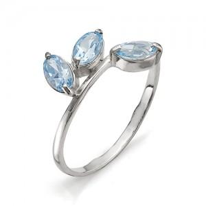 Кольцо из серебра 925 пробы с полудрагоценными камнями арт. 13-10-015