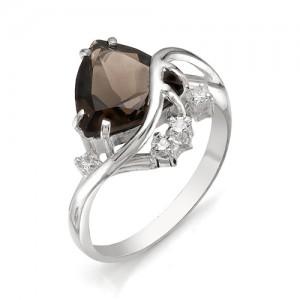 Кольцо из серебра 925 пробы с полудрагоценными камнями арт. 13-14-159