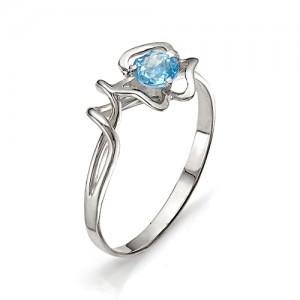 Кольцо из серебра 925 пробы с полудрагоценными камнями арт. 13-10-182