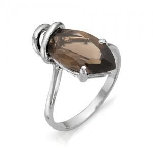 Кольцо из серебра 925 пробы с полудрагоценными камнями арт. 13-14-203