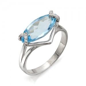Кольцо из серебра 925 пробы с полудрагоценными камнями арт. 13-10-216