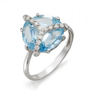 Кольцо из серебра 925 пробы с полудрагоценными камнями арт. 13-10-253