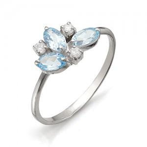 Кольцо из серебра 925 пробы с полудрагоценными камнями арт. 13-10-070