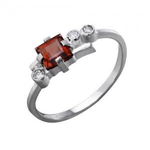 Кольцо из серебра 925 пробы с полудрагоценными камнями арт. 13-11-099