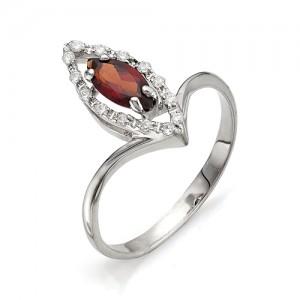 Кольцо из серебра 925 пробы с полудрагоценными камнями арт. 13-11-166