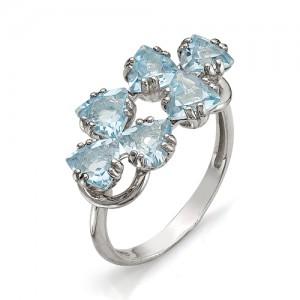 Кольцо из серебра 925 пробы с полудрагоценными камнями арт. 13-10-237