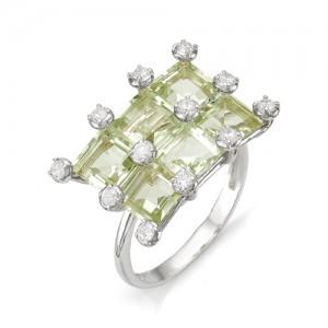 Кольцо из серебра 925 пробы с полудрагоценными камнями арт. 13-17-239
