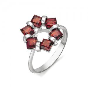 Кольцо из серебра 925 пробы с полудрагоценными камнями арт. 13-11-230