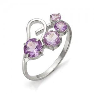 Кольцо из серебра 925 пробы с полудрагоценными камнями арт. 13-13-091