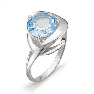 Кольцо из серебра 925 пробы с полудрагоценными камнями арт. 13-10-196