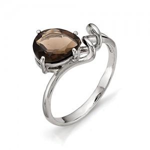 Кольцо из серебра 925 пробы с полудрагоценными камнями арт. 13-14-181