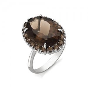 Кольцо из серебра 925 пробы с полудрагоценными камнями арт. 13-14-272