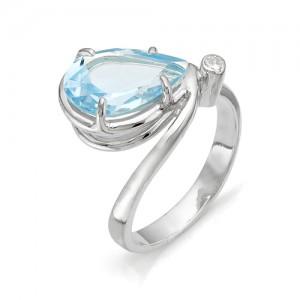 Кольцо из серебра 925 пробы с полудрагоценными камнями арт. 13-10-213
