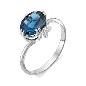 Кольцо из серебра 925 пробы с полудрагоценными камнями арт. 13-19-255