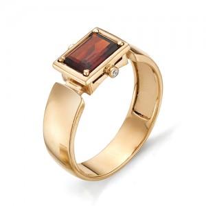 Перстень из золота 585 пробы с гранатом арт. 91-006