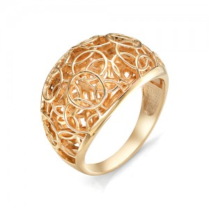 Кольцо из красного золота 585 пробы  арт. 11-00-353-0