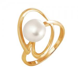 Кольцо из красного золота 585 пробы с жемчугом арт. 190-1-271