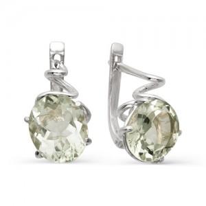 Серьги из серебра 925 пробы с полудрагоценными камнями арт. 23-17-201