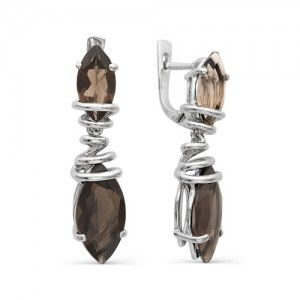 Серьги из серебра 925 пробы с полудрагоценными камнями арт. 23-14-203